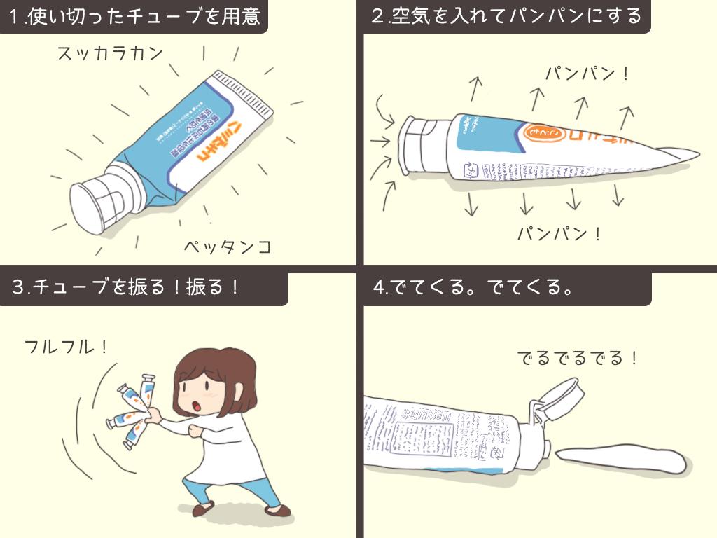 チューブ・歯磨き粉を最後まで使う方法